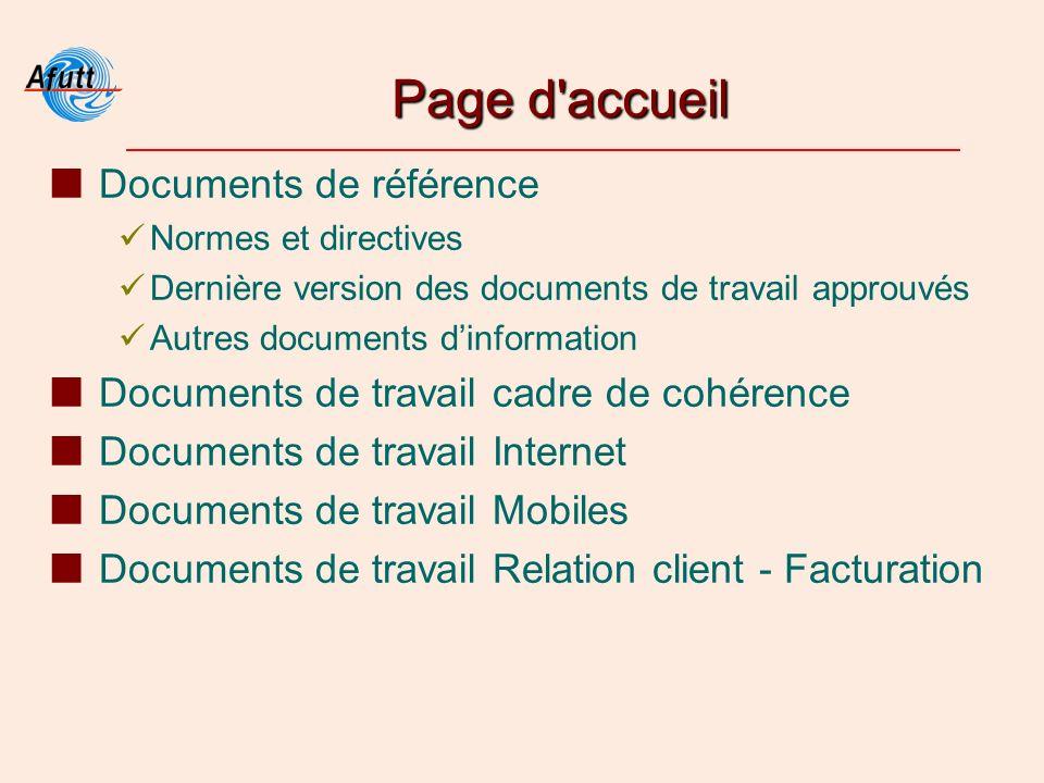 Page d'accueil Documents de référence Normes et directives Dernière version des documents de travail approuvés Autres documents dinformation Documents