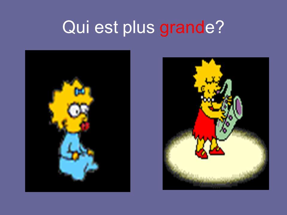 Homer est plus grand que Bart.