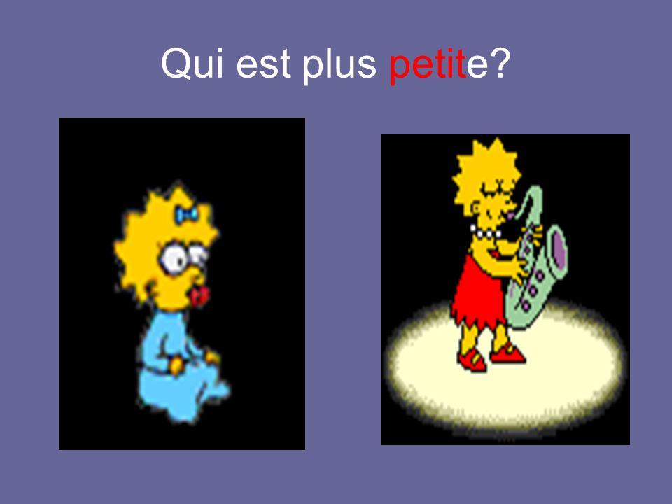Bart est plus petit que Homer.