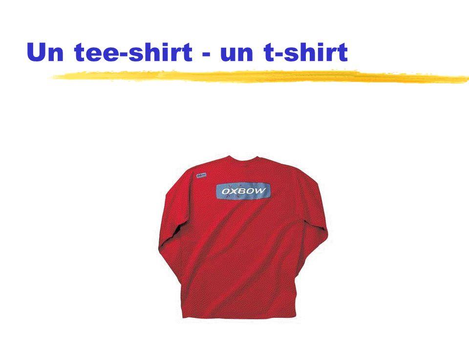 Un tee-shirt - un t-shirt
