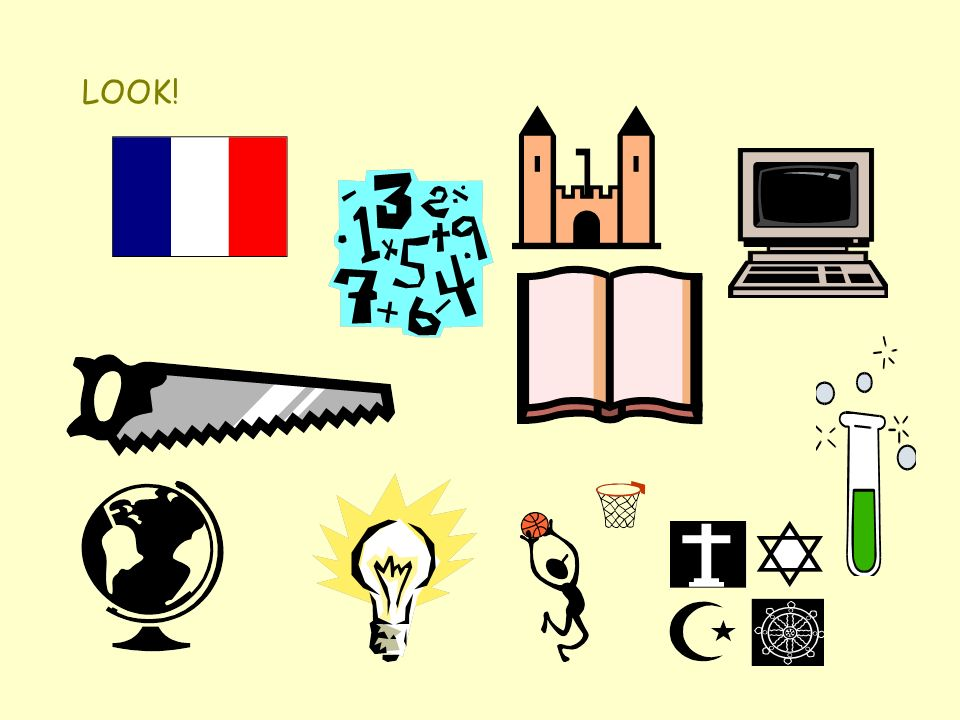Match the French and the English A.Parce que cest génial.