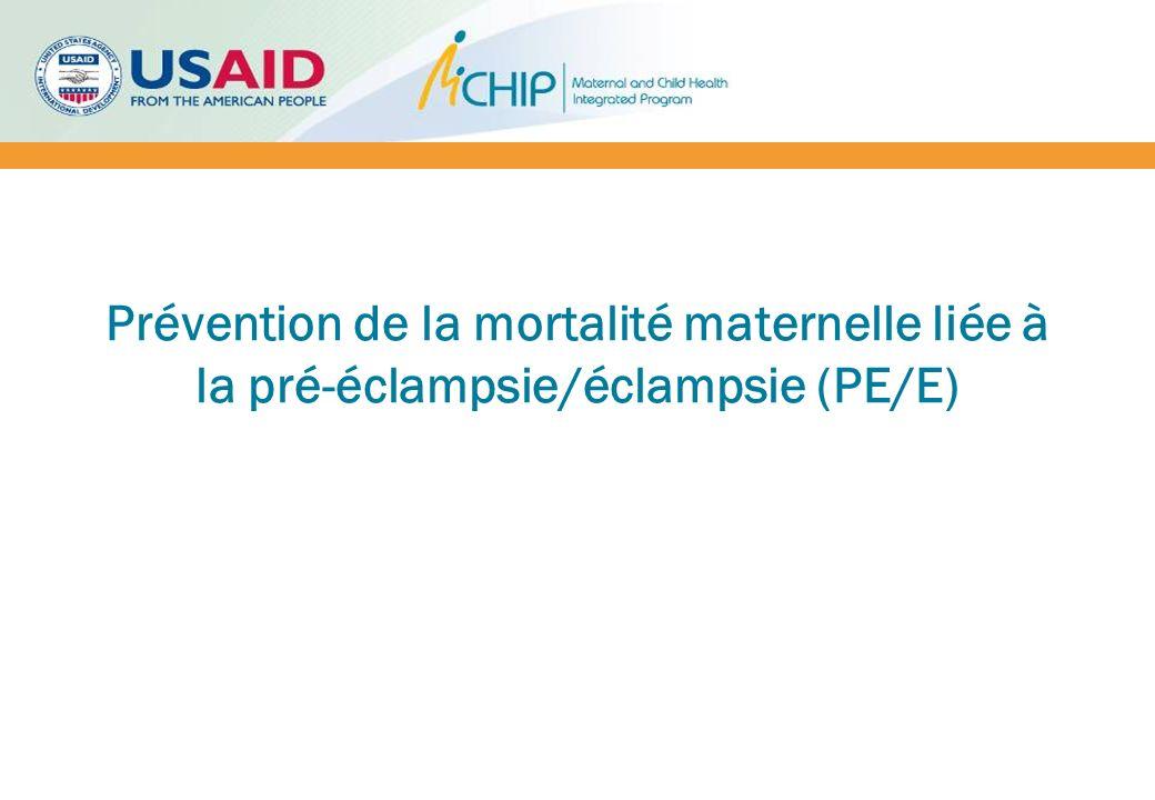 Prévention primaire Source: Prevention and management of pre-eclampsia and eclampsia reference manual, MCHIP, 2011 InterventionRésultat de la grossesseRecommandé.