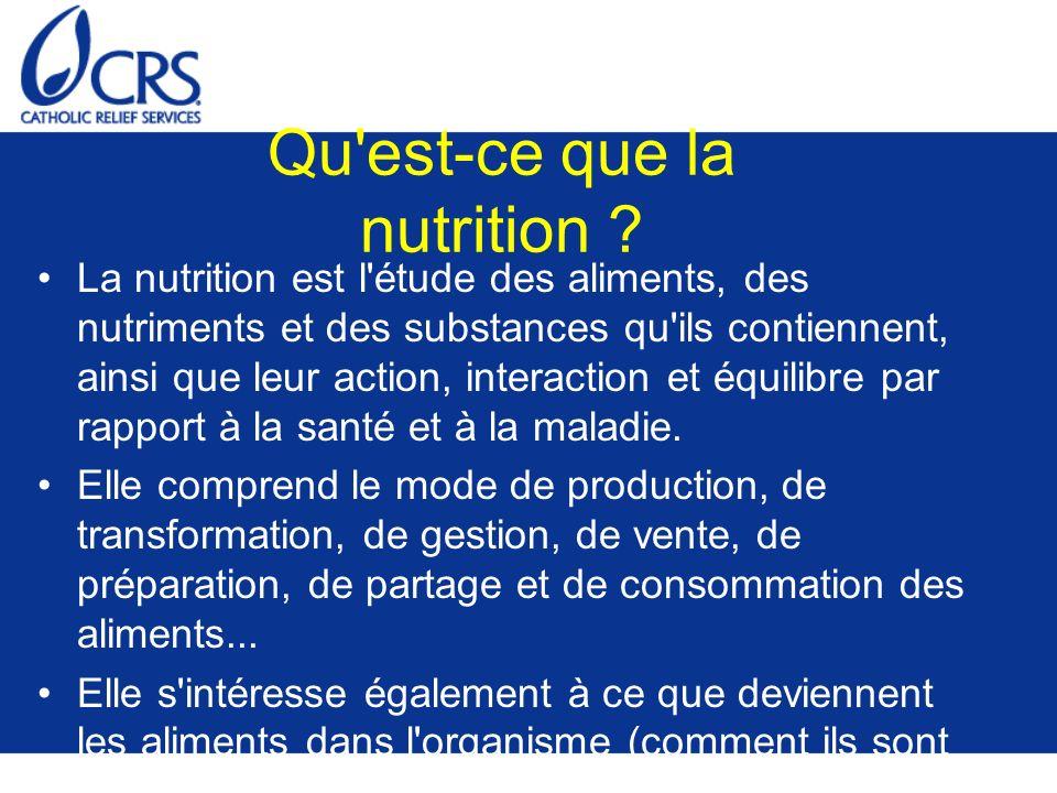 Digestion : Transformation des aliments en nutriments dans notre organisme La digestion commence dans la bouche Les aliments traversent ensuite l oesophage pour arriver à l estomac Une fois dans l estomac, ils sont broyés pour être transformés en nutriments Les nutriments entrent ensuite dans les intestins où ils sont absorbés