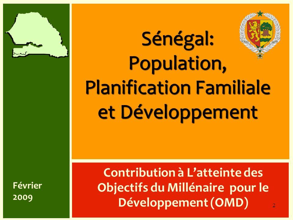 Sénégal: Population, Planification Familiale et Développement Contribution à Latteinte des Objectifs du Millénaire pour le Développement (OMD) 2 Févri