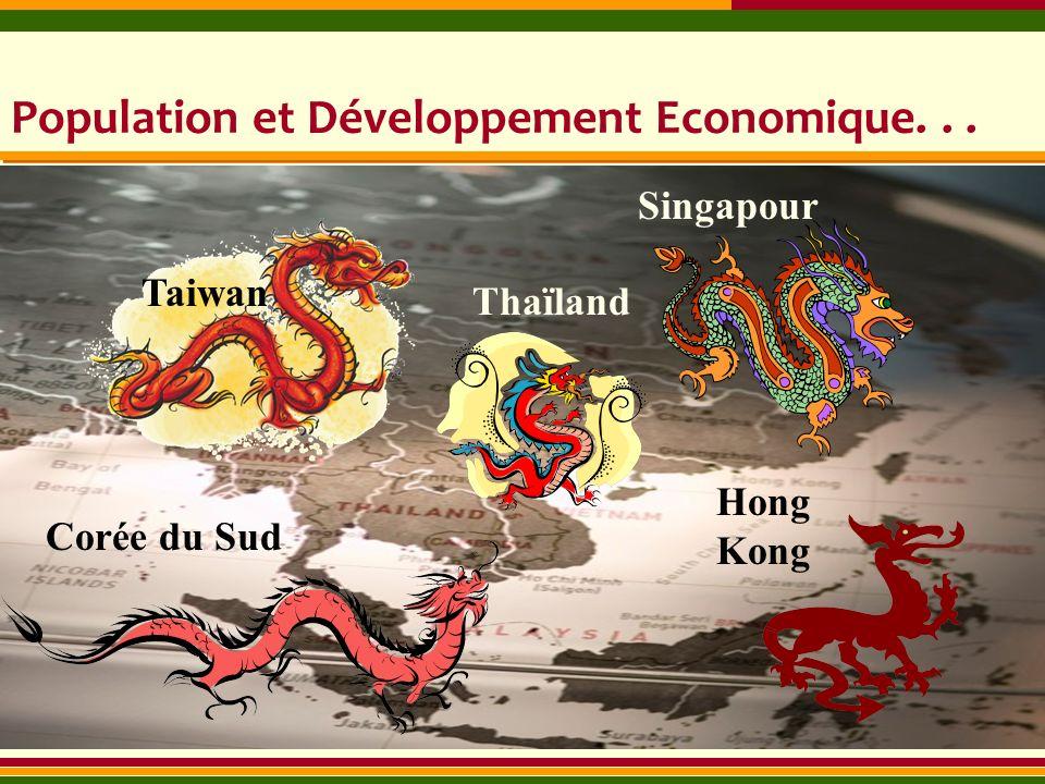 Population et Développement Economique... Taiwan Singapour Corée du Sud Hong Kong Thaïland