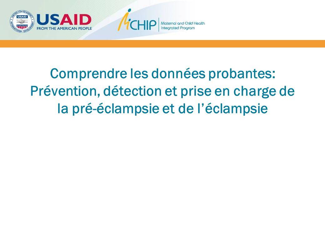 Objectifs 1.Présenter les données probantes sur les interventions disponibles de prévention, détection et prise en charge de la pré-éclampsie et éclampsie PE/E 2.Partager les preuves et les innovations émergentes sur la PE/E