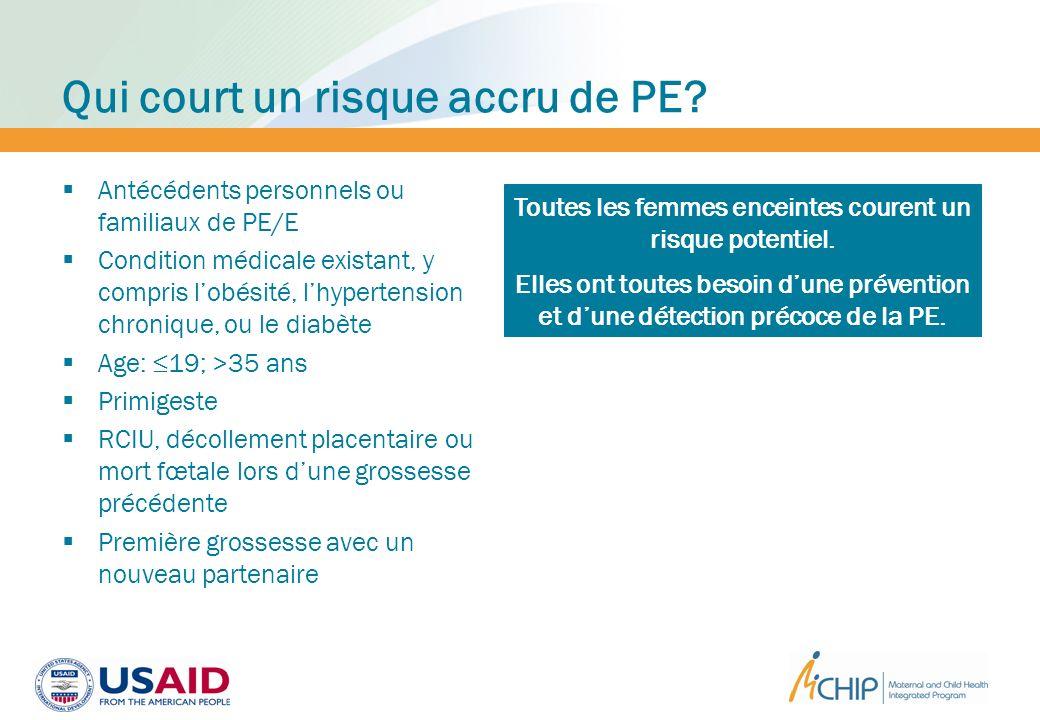 Niveaux de prévention de la PE/E NiveauStrategieDefinition 1.