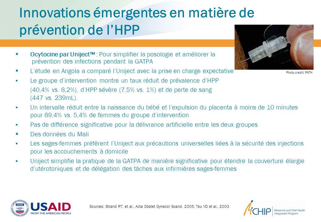 Innovations émergentes en matière de prévention de lHPP Ocytocine par Uniject : Pour simplifier la posologie et améliorer la prévention des infections