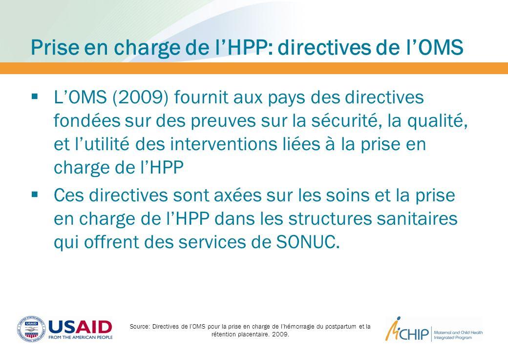 Prise en charge de lHPP: directives de lOMS LOMS (2009) fournit aux pays des directives fondées sur des preuves sur la sécurité, la qualité, et lutili