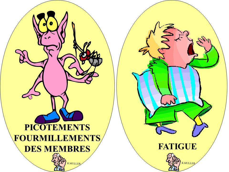 FATIGUE PICOTEMENTS FOURMILLEMENTS DES MEMBRES R.MULLER