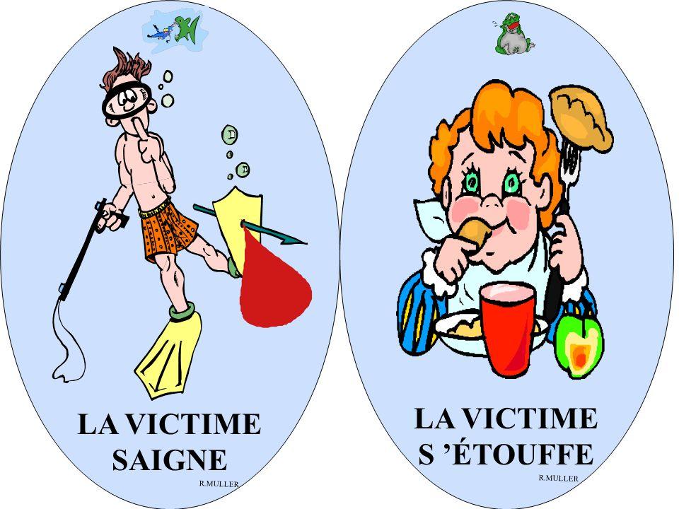 LA VICTIME SAIGNE R.MULLER LA VICTIME S ÉTOUFFE R.MULLER