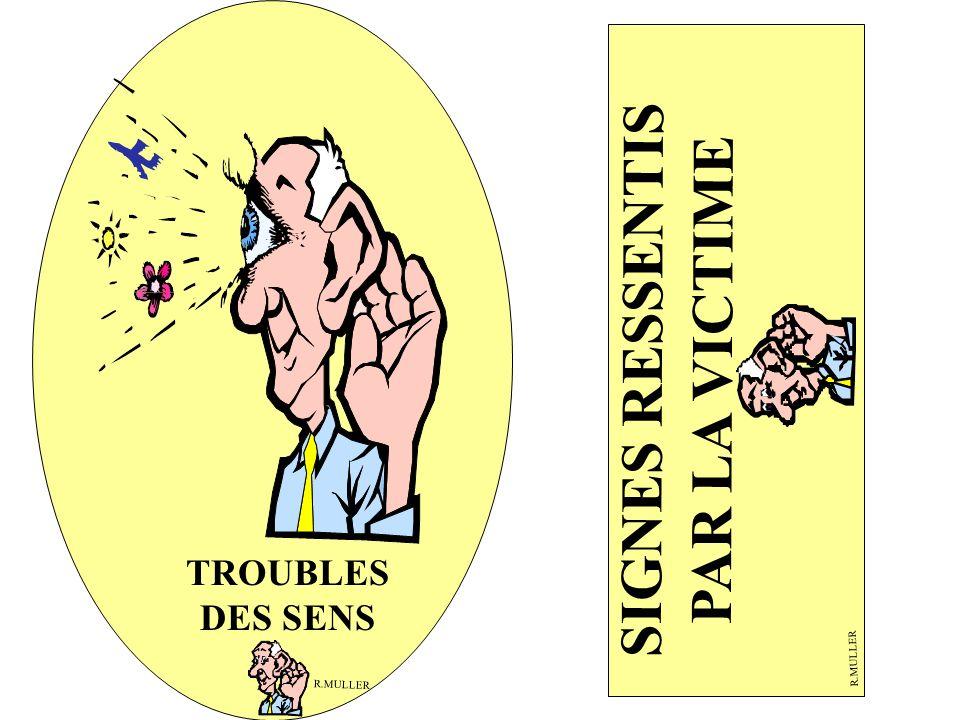 SIGNES RESSENTIS PAR LA VICTIME TROUBLES DES SENS R.MULLER