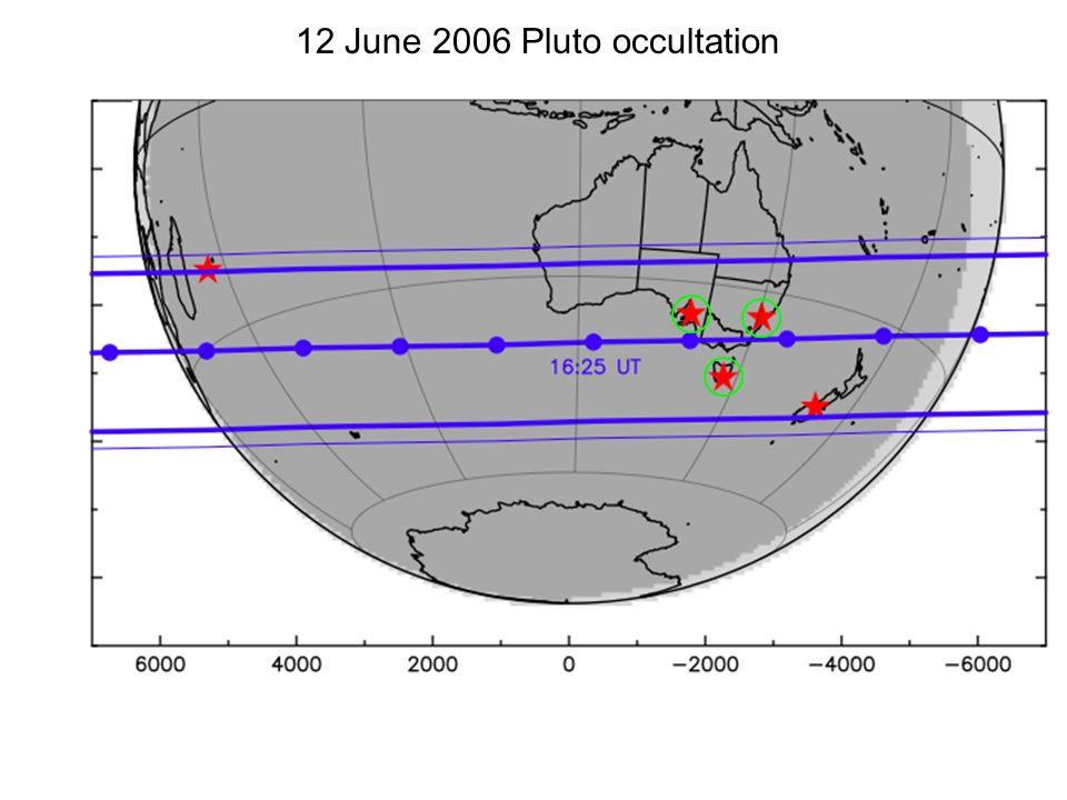 12 June 2006 Pluto occultation