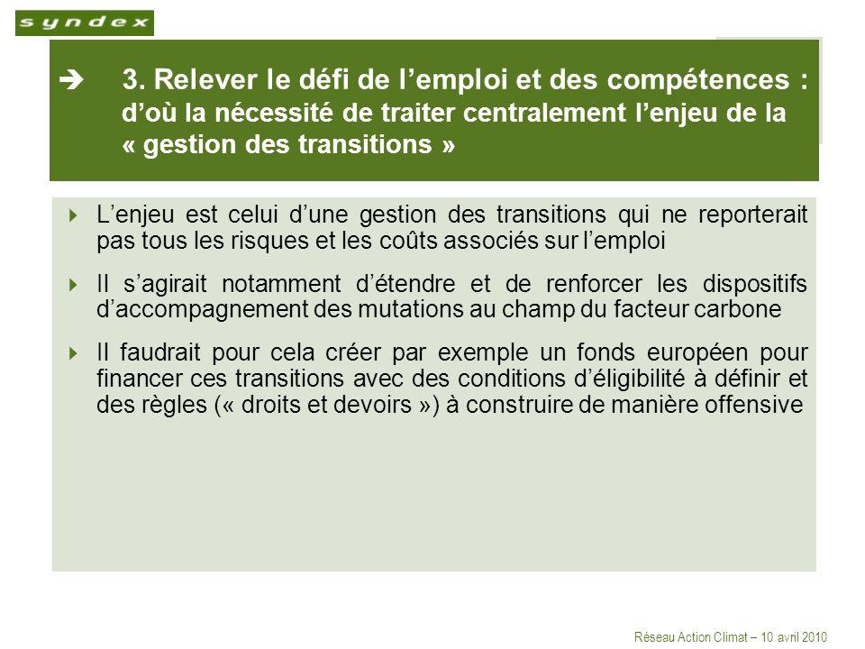 Réseau Action Climat – 10 avril 2010 3.