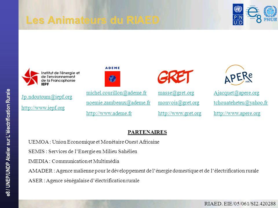 e8 / UNEP/UNDP Atelier sur L électrification Rurale Les Animateurs du RIAED Instructions: Supprimez les exemples d icônes de document et remplacez-les par les icônes des documents de travail, comme suit : Créez un document dans Word.