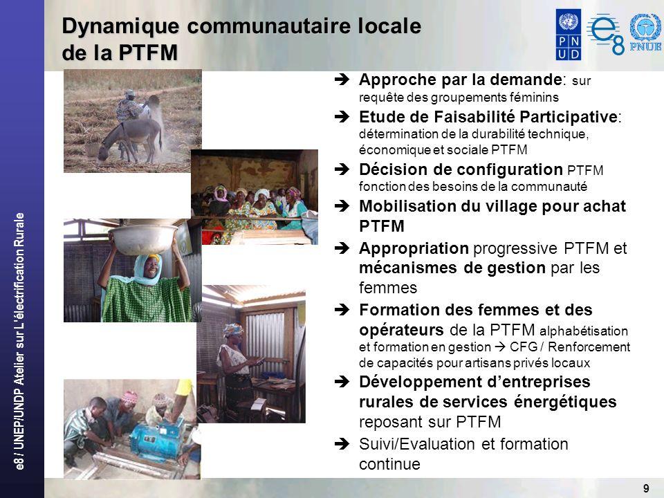 e8 / UNEP/UNDP Atelier sur L électrification Rurale 10 Quels résultats / impacts ?