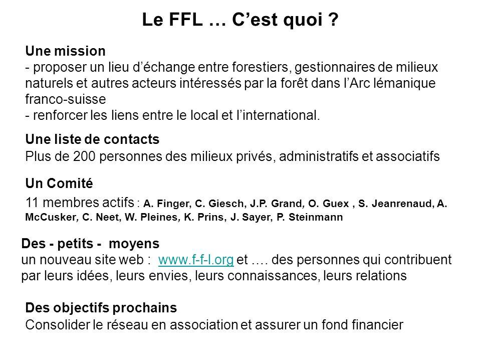 Le FFL … Cest quoi . Un Comité 11 membres actifs : A.