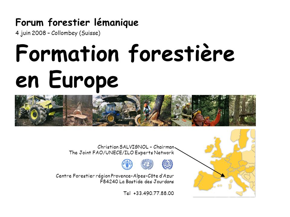 Activités à venir (2): > 2 ème conférence internationale des centres de formation forestière à Lyss, Suisse, 19-21 Novembre 2008.