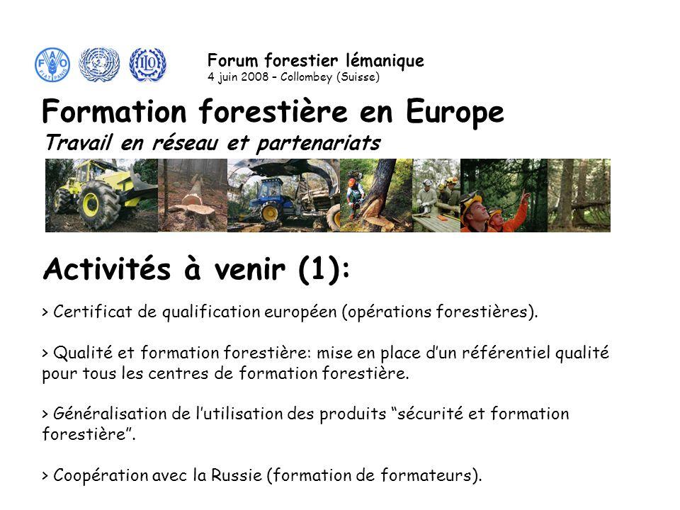 Activités à venir (1): > Certificat de qualification européen (opérations forestières).