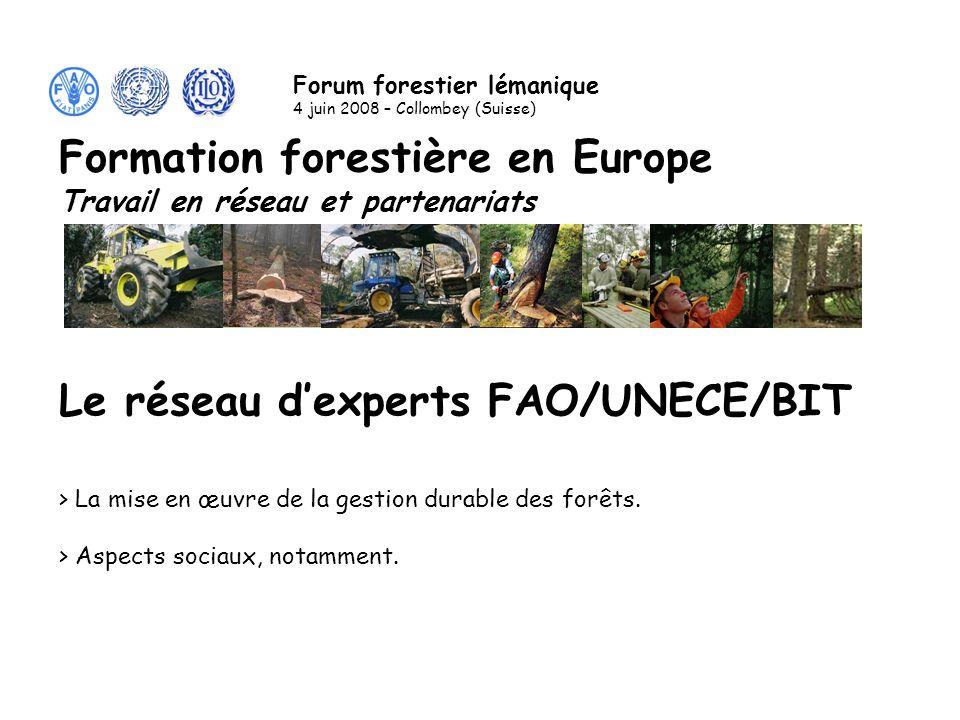 Le réseau dexperts FAO/UNECE/BIT > Les organisations mères.