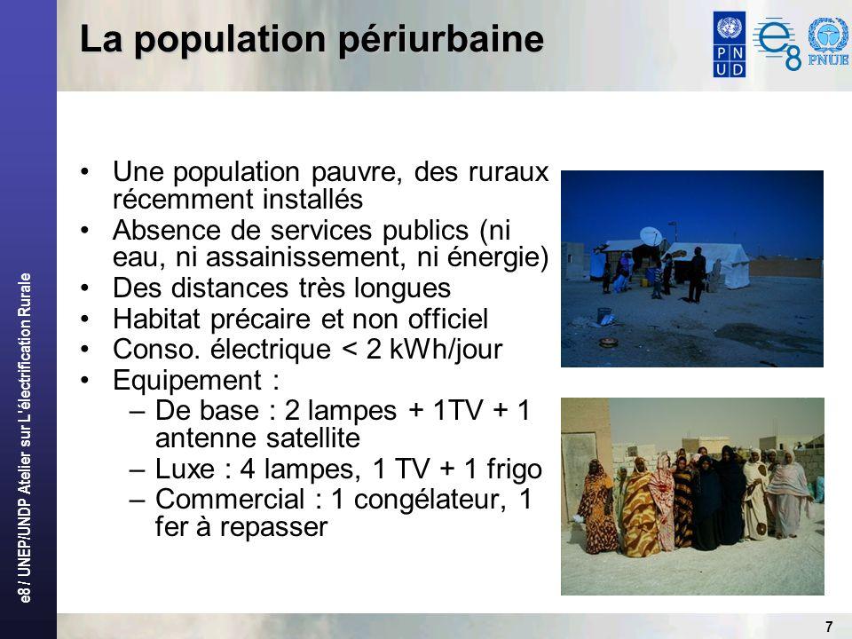 e8 / UNEP/UNDP Atelier sur L électrification Rurale 8 Photo dun quartier (Dar El Beida)