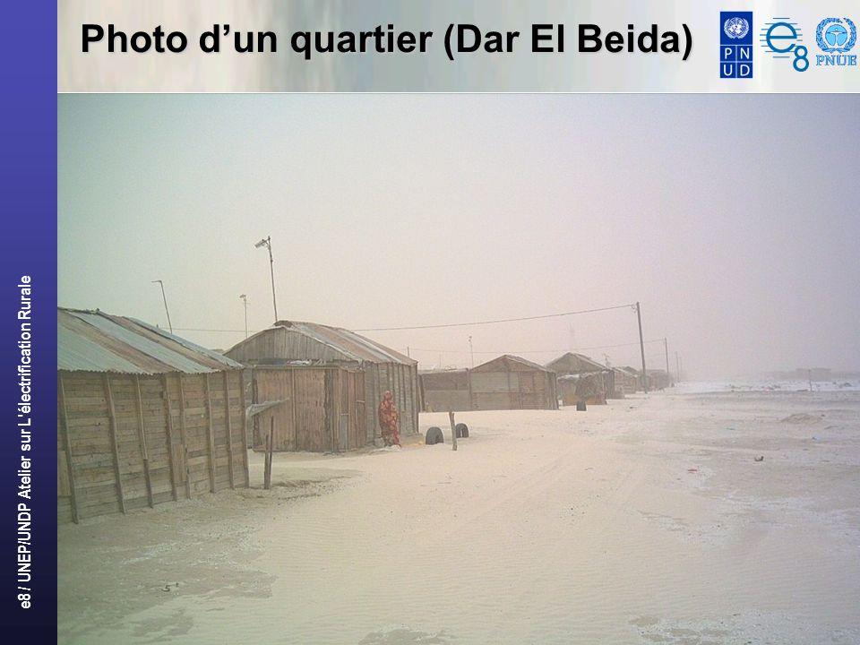 e8 / UNEP/UNDP Atelier sur L'électrification Rurale 8 Photo dun quartier (Dar El Beida)
