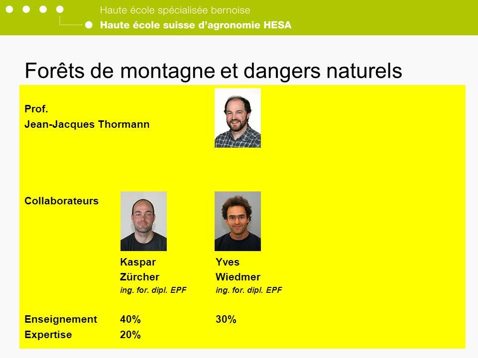 Forêts de montagne et dangers naturels Prof.