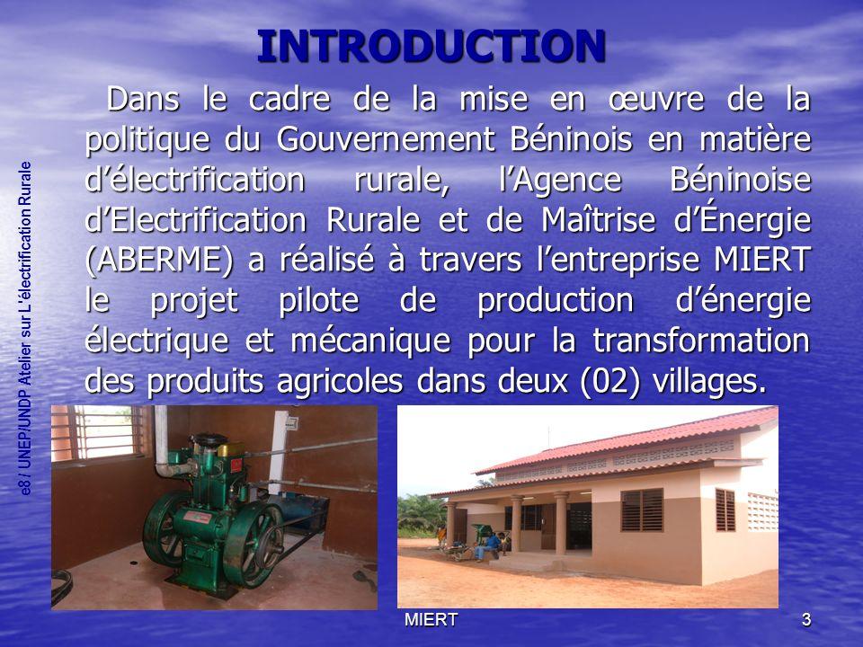 MIERT4 INTRODUCTION (suite) Dans le monde rural, surtout dans les zones isolées des infrastructures conventionnelles, la journée de travail de la femme est extrêmement chargée.
