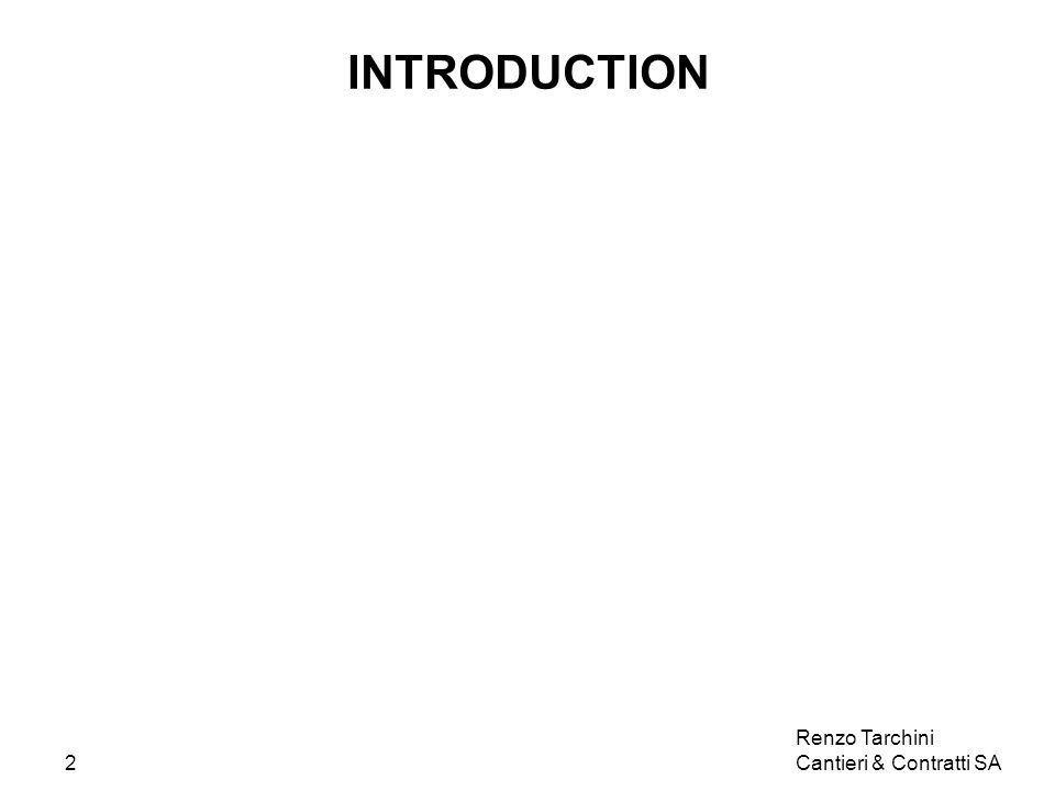 Renzo Tarchini Cantieri & Contratti SA3 EXPERTS ET EXPERTISES SAVOIR FAIRE SAVOIR Les bases essentielles