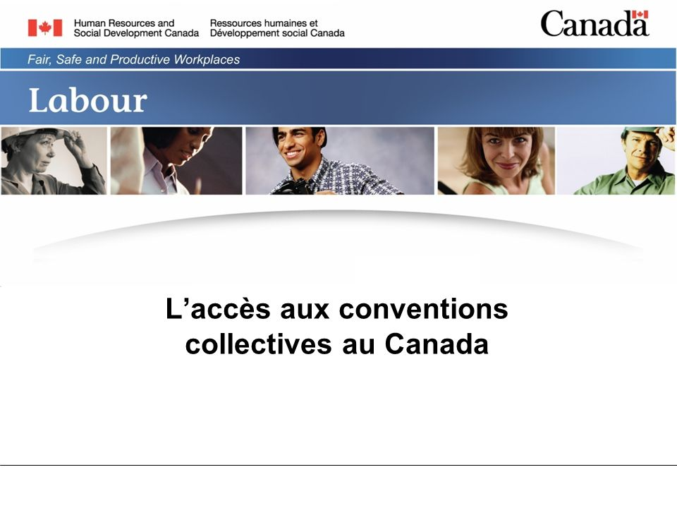 Laccès aux conventions collectives au Canada