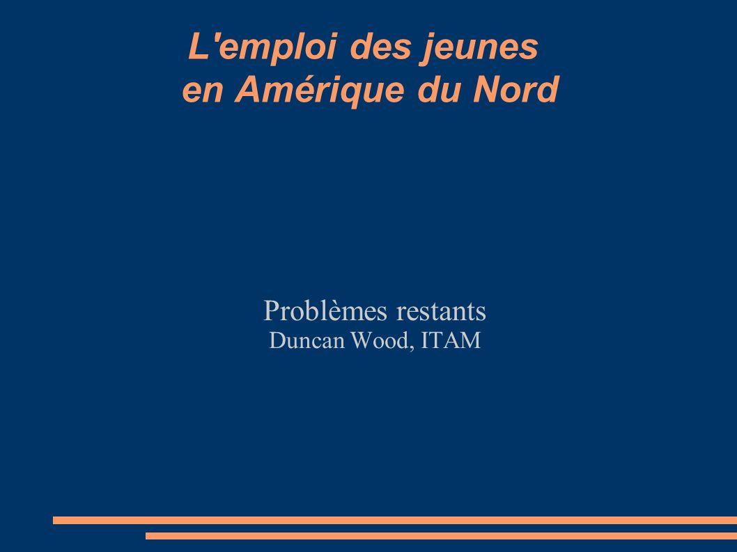 L'emploi des jeunes en Amérique du Nord Problèmes restants Duncan Wood, ITAM
