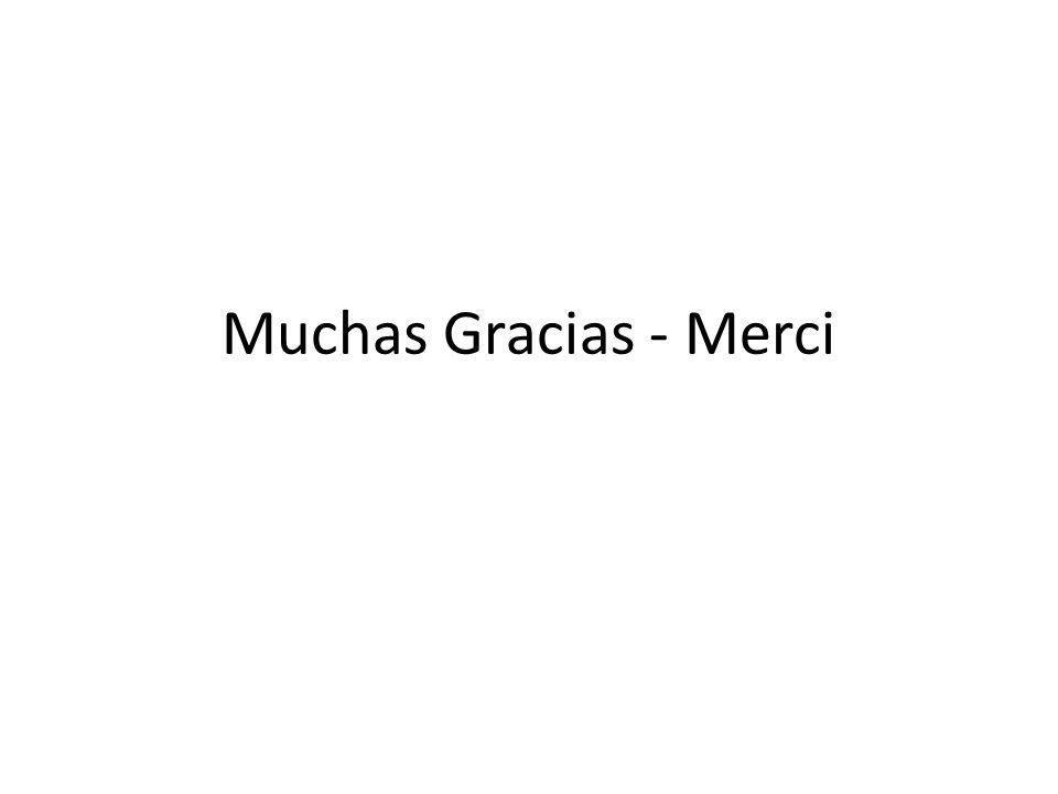 Muchas Gracias - Merci