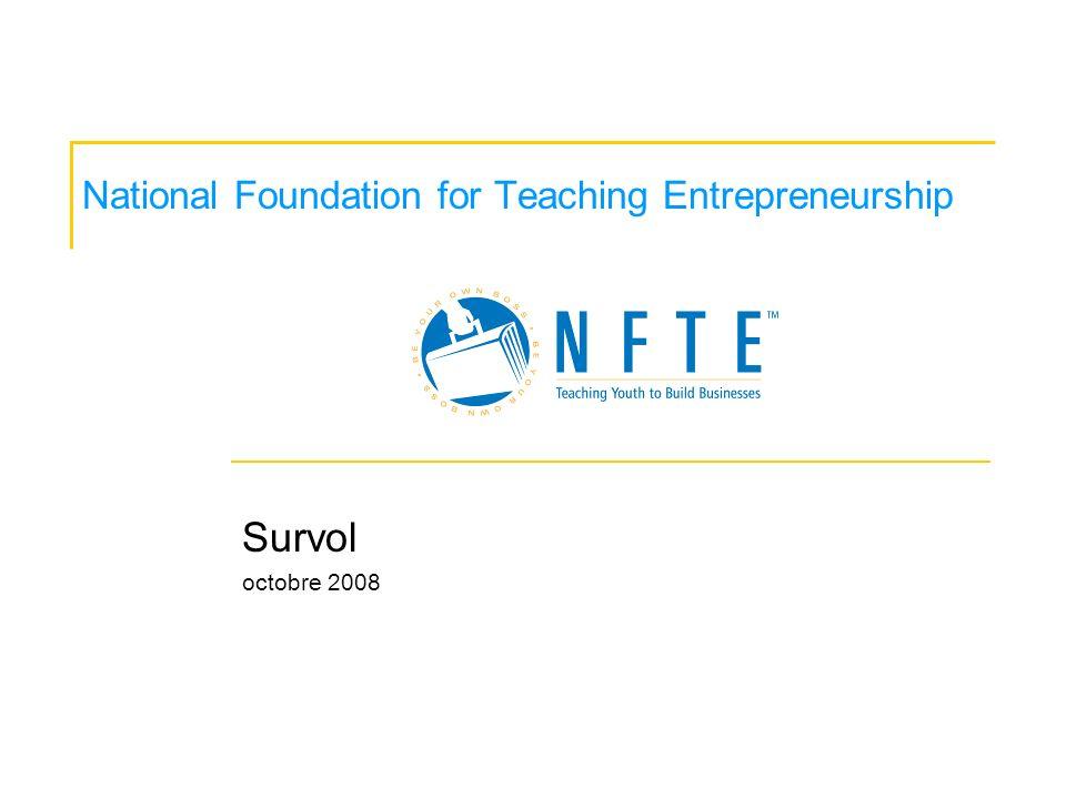 National Foundation for Teaching Entrepreneurship Survol octobre 2008