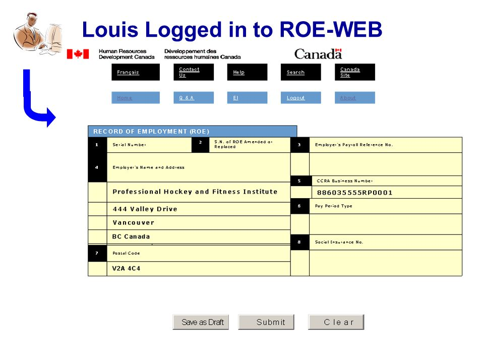 Louis Logged in to ROE-WEB
