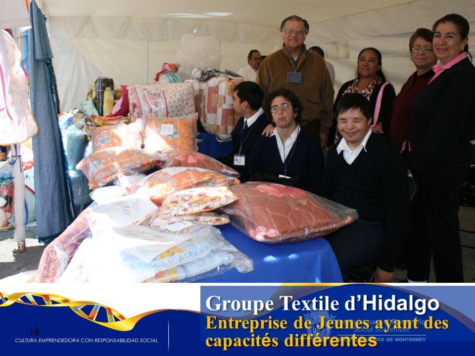 Groupe Textile d Hidalgo Entreprise de Jeunes ayant des capacit é s diff érentes Groupe Textile d Hidalgo Entreprise de Jeunes ayant des capacit é s d