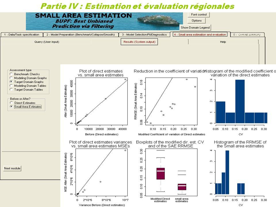 34 Partie IV : Estimation et évaluation régionales