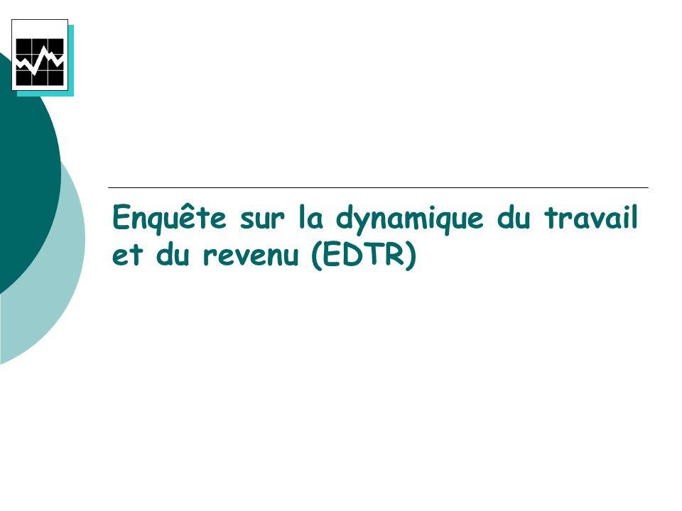 Enquête sur la dynamique du travail et du revenu (EDTR)