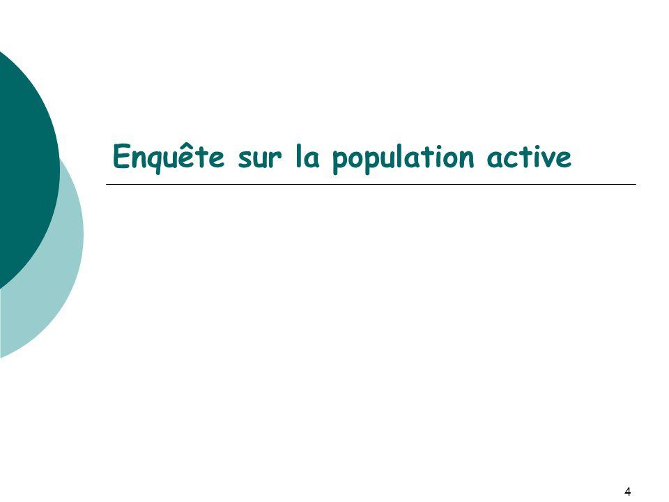 4 Enquête sur la population active