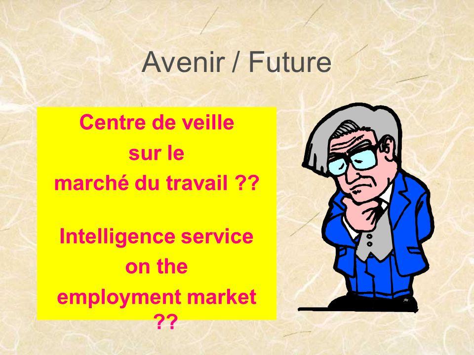 Avenir / Future Centre de veille sur le marché du travail ?.