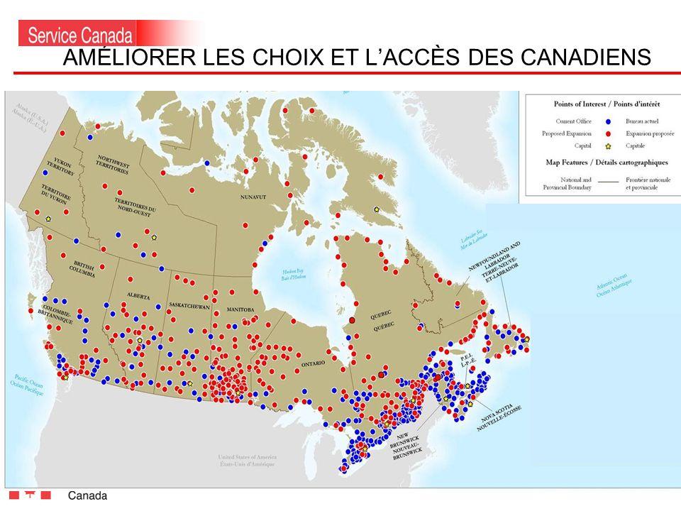 4 AMÉLIORER LES CHOIX ET LACCÈS DES CANADIENS