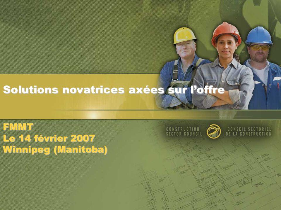 Solutions novatrices axées sur loffre FMMT Le 14 février 2007 Winnipeg (Manitoba)