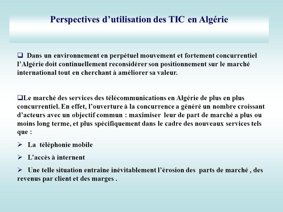 Dans un environnement en perpétuel mouvement et fortement concurrentiel lAlgérie doit continuellement reconsidérer son positionnement sur le marché in
