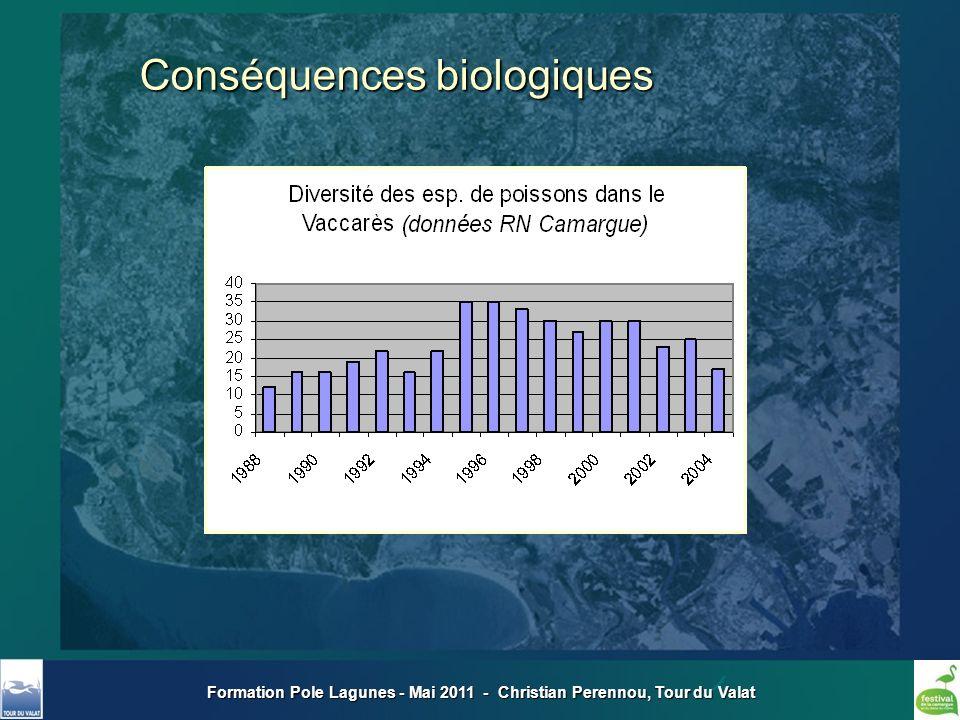 Formation Pole Lagunes - Mai 2011 - Christian Perennou, Tour du Valat Conséquences biologiques