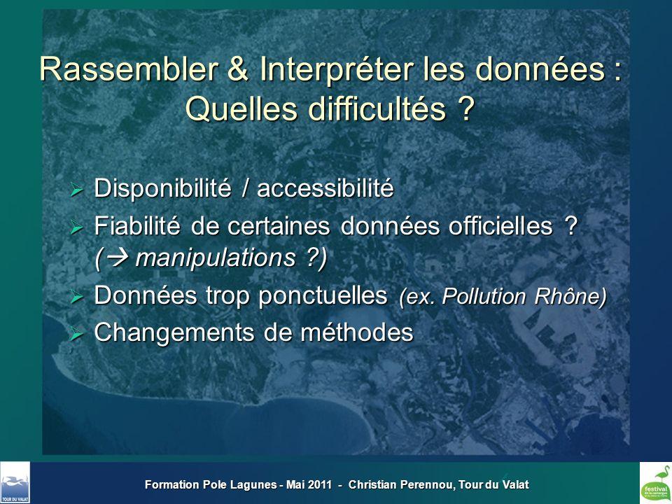 Formation Pole Lagunes - Mai 2011 - Christian Perennou, Tour du Valat Disponibilité / accessibilité Disponibilité / accessibilité Fiabilité de certain