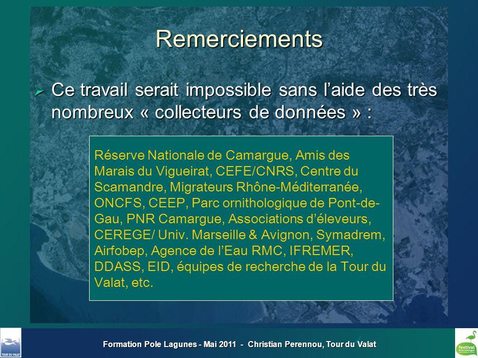 Formation Pole Lagunes - Mai 2011 - Christian Perennou, Tour du Valat Remerciements Réserve Nationale de Camargue, Amis des Marais du Vigueirat, CEFE/