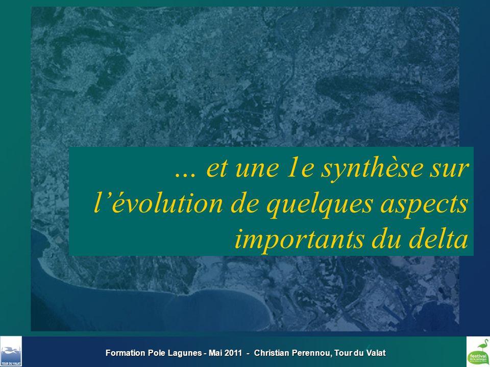 Formation Pole Lagunes - Mai 2011 - Christian Perennou, Tour du Valat Un débit moyen du Rhône stable… Un débit moyen du Rhône stable… …mais des crues plus fortes (7 sur 16 des plus fortes en 150 ans : en 1993-2003) …mais des crues plus fortes (7 sur 16 des plus fortes en 150 ans : en 1993-2003) Lhydrologie
