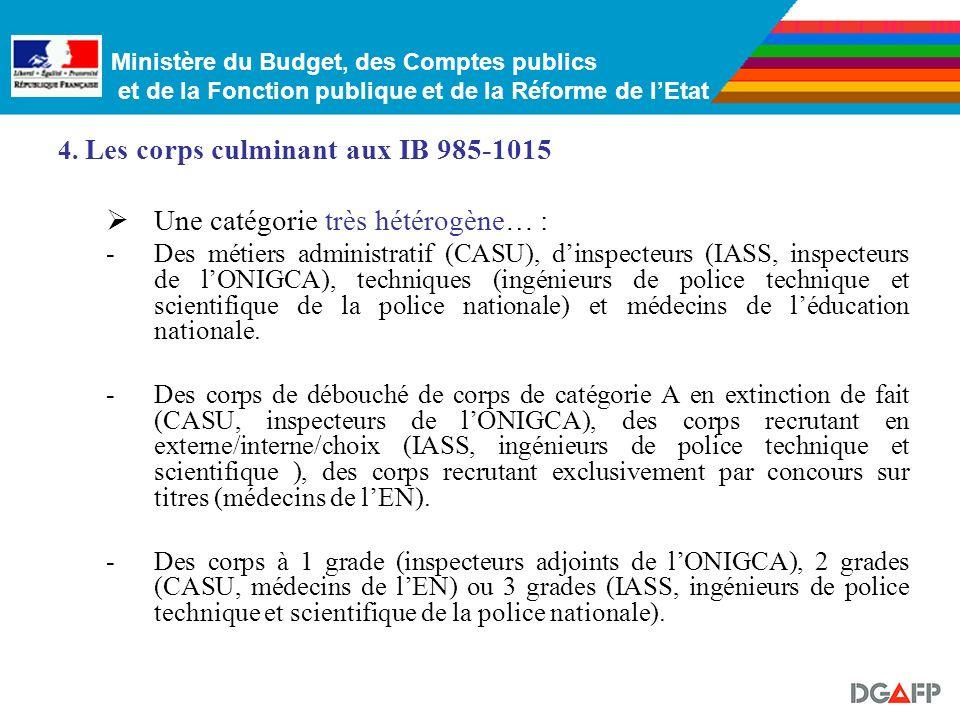 Ministère du Budget, des Comptes publics et de la Fonction publique et de la Réforme de lEtat Ces corps présentent les particularités suivantes : -Ils
