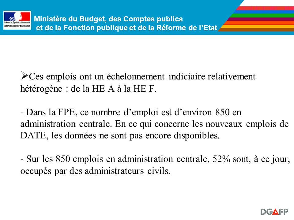 Ministère du Budget, des Comptes publics et de la Fonction publique et de la Réforme de lEtat On recense environ une quinzaine de type demplois foncti