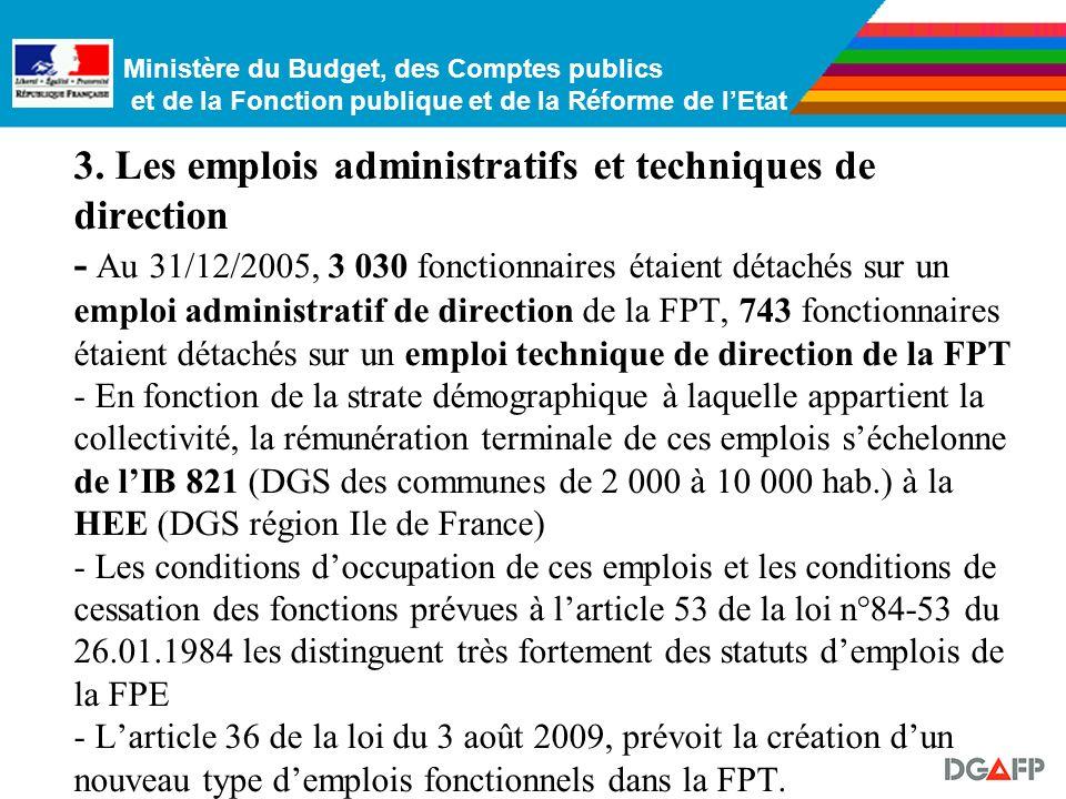 Ministère du Budget, des Comptes publics et de la Fonction publique et de la Réforme de lEtat - un cadre demplois comportant quatre grades, accessible