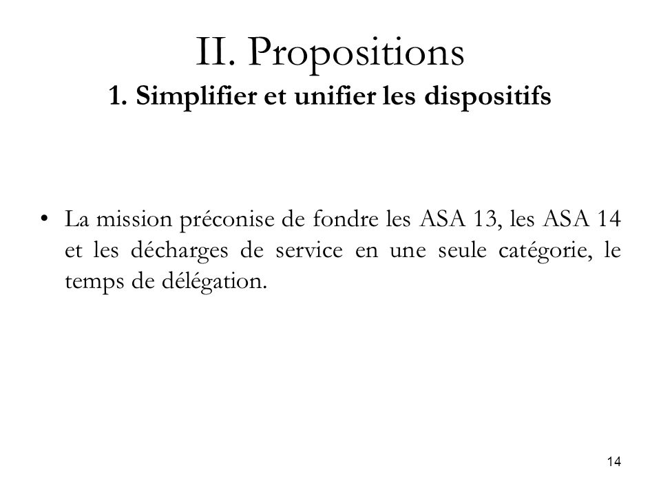 14 II. Propositions 1.